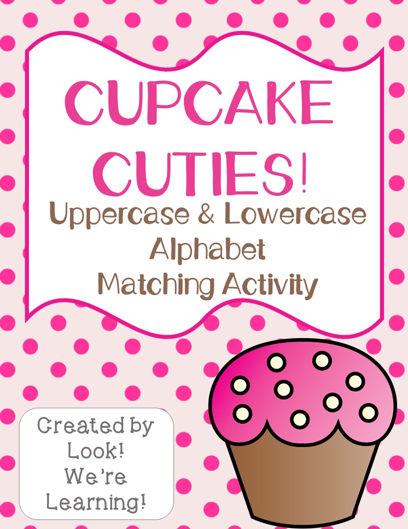 Cupcake Alphabet Matching Activity