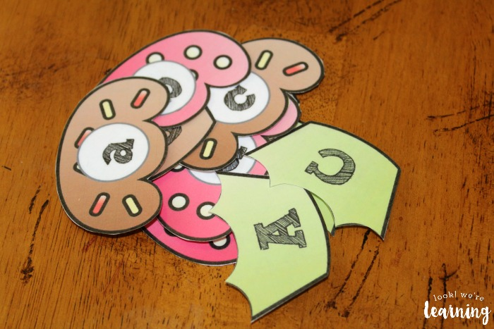Cupcake Letter Matching Activity