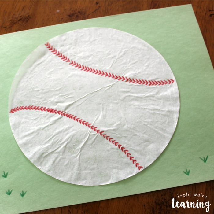 Cute Coffee Filter Baseball Craft for Kids