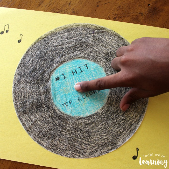 Cute Vinyl Record Craft for Kids