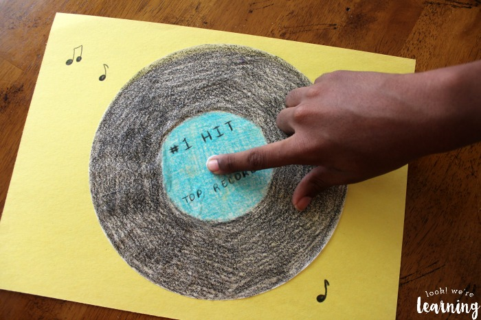 Cute Vinyl Record Craft