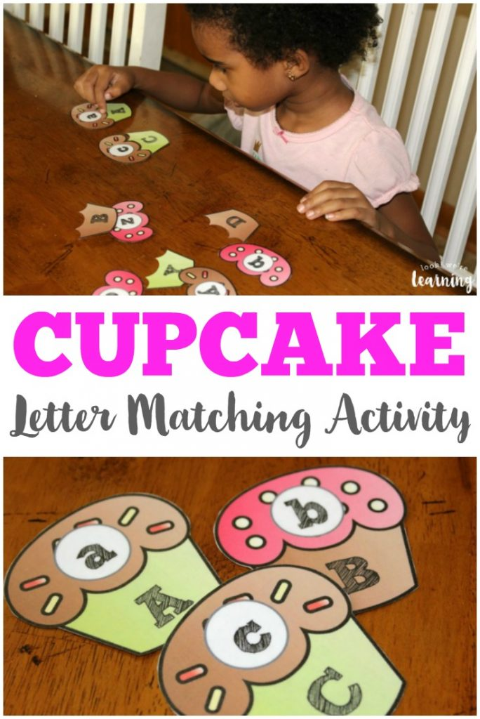 Early learners will have a ball with this fun cupcake letter matching activity featuring uppercase and lowercase letters!