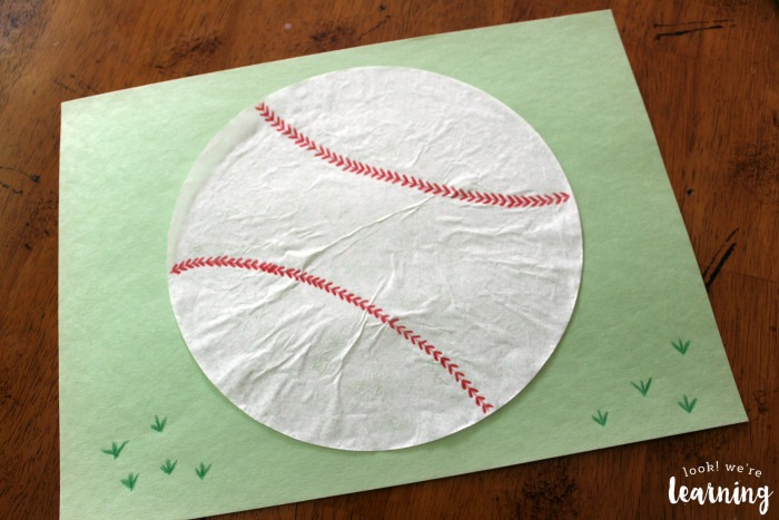 Easy Coffee Filter Baseball Craft Project