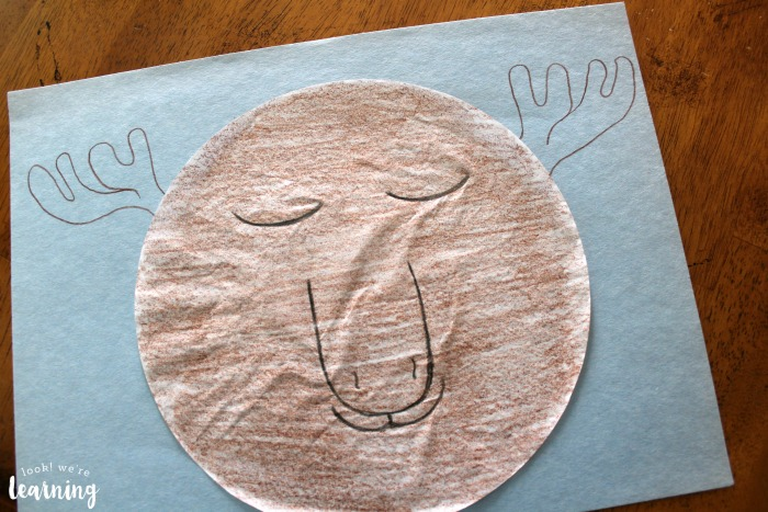 Easy Coffee Filter Moose Craft for Preschoolers