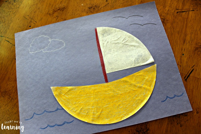 Easy Coffee Filter Sailboat Craft for Kids