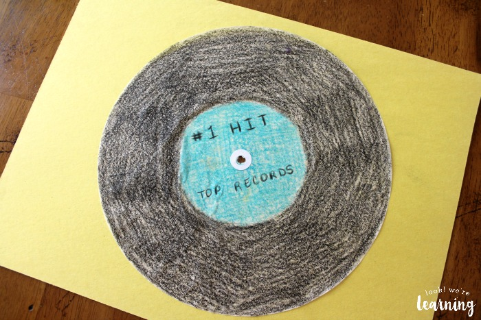 Easy Coffee Filter Vinyl Record Craft