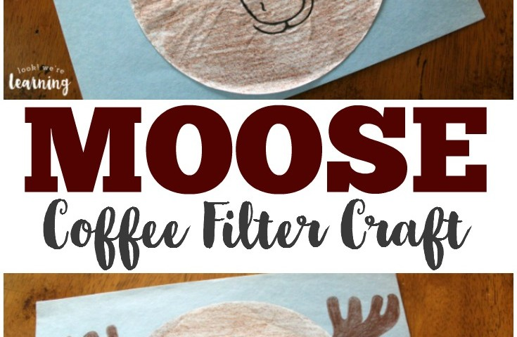 Coffee Filter Crafts for Kids: Coffee Filter Moose Craft