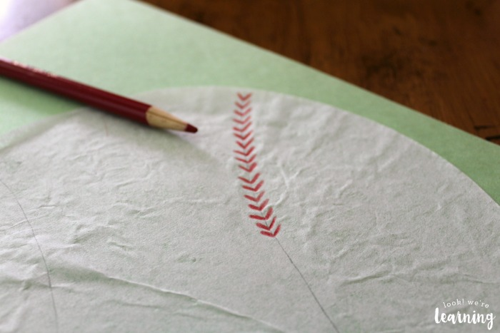 Making a Coffee Filter Baseball Craft