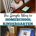 Overwhelmed by planning your kindergartner's homeschool lessons Try this simple homeschool kindergarten program instead!