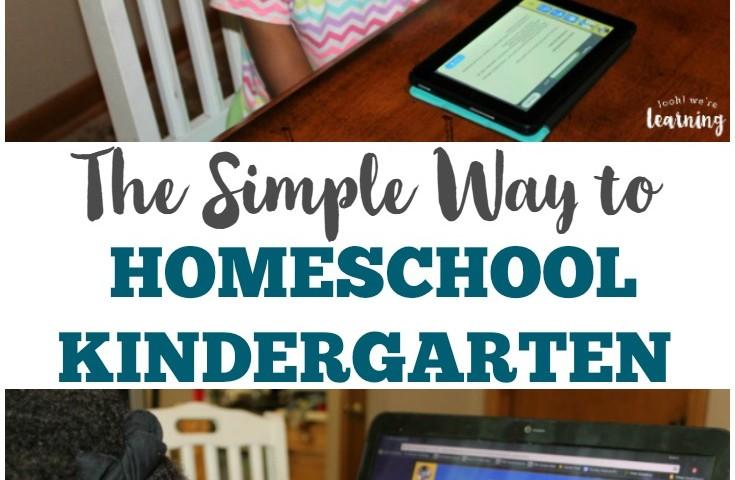 The Simple Homeschool Kindergarten Method We're Using This Year
