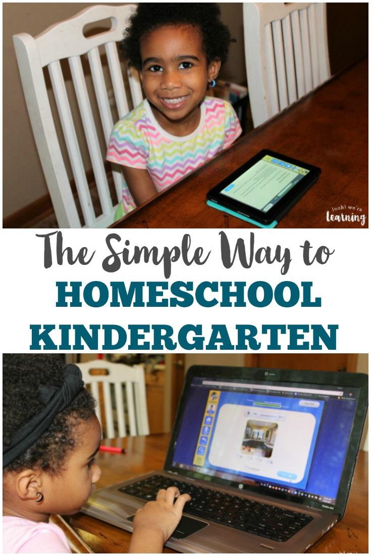 Overwhelmed by planning your kindergartner's homeschool lessons Try this simple homeschool kindergarten program instead!