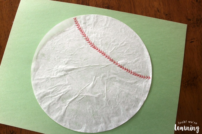 Simple Coffee Filter Baseball Craft