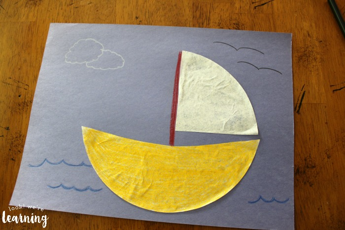 Simple Coffee Filter Sailboat Craft