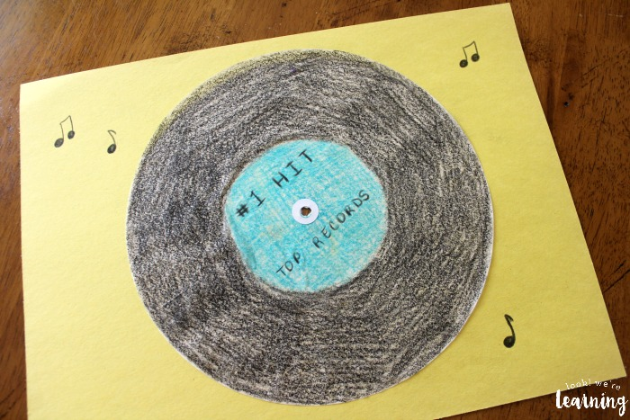 Simple Coffee Filter Vinyl Record Craft