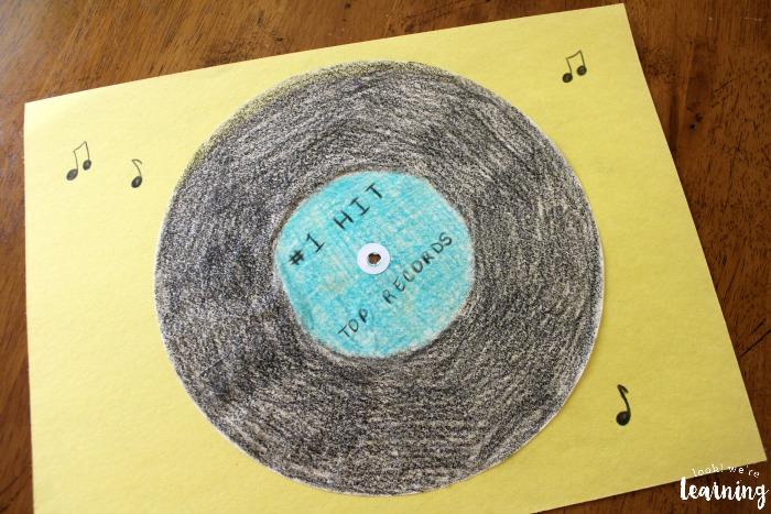 Simple Coffee Filter Vinyl Record Craft