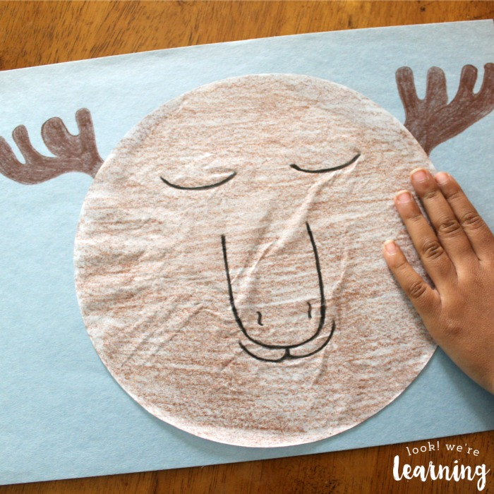 Simple Preschool Coffee Filter Moose Craft