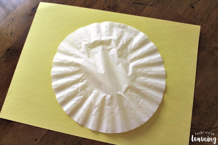 Simple Vinyl Record Coffee Filter Craft