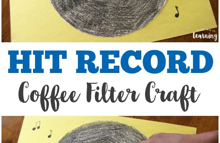 Coffee Filter Crafts for Kids: Coffee Filter Vinyl Record Craft
