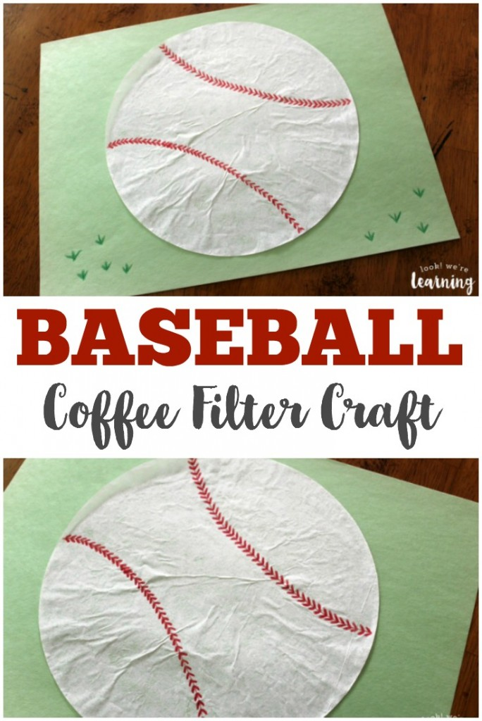 This baseball coffee filter craft is just the project for your little sluggers!