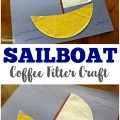 This cute coffee filter sailboat craft is a neat nautical craft for the kids!