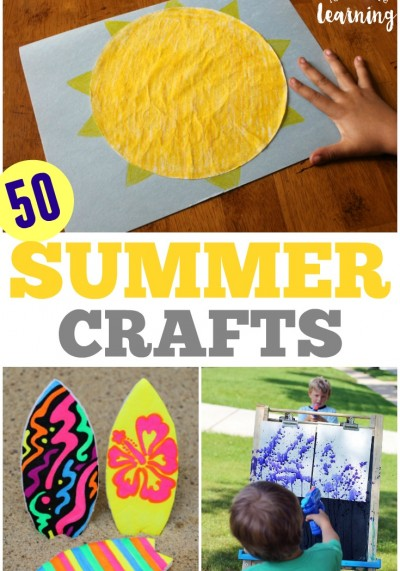 Try some of these fun and easy summer crafts for kids with your children this year!