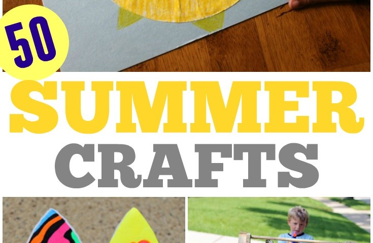 50 Super Easy, Super Fun Summer Crafts for Kids!