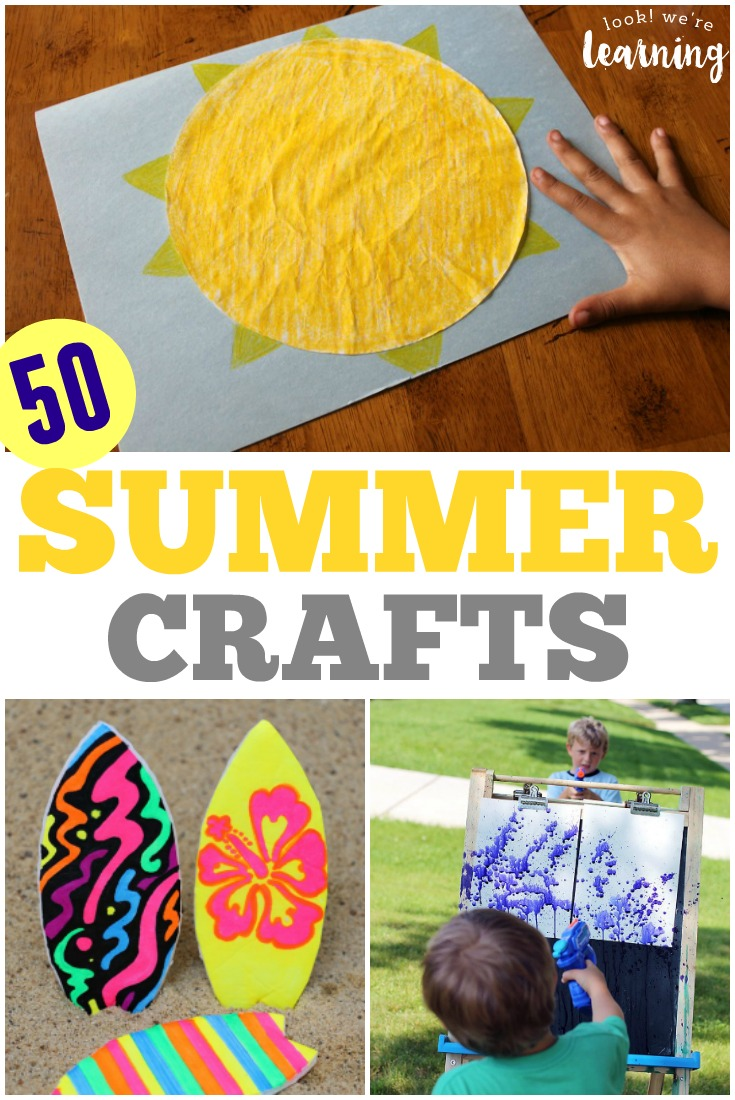 50 Super Easy, Super Fun Summer Crafts For Kids