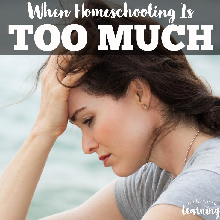 When Homeschooling Feels Like Too Much
