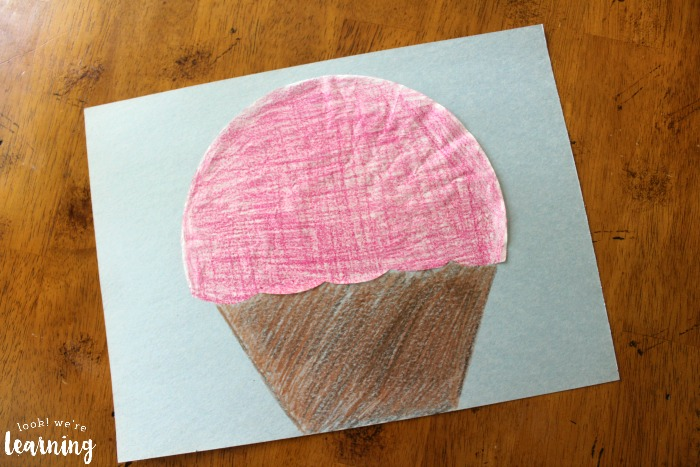 Coffee Filter Cupcake Craft