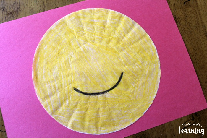 Coffee Filter Emoji Craft