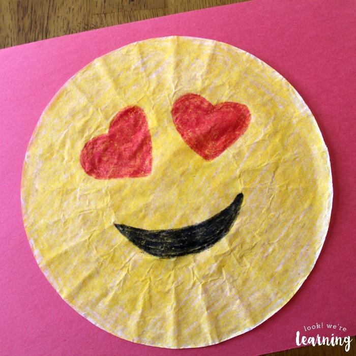 Coffee Filter Love Emoji Craft