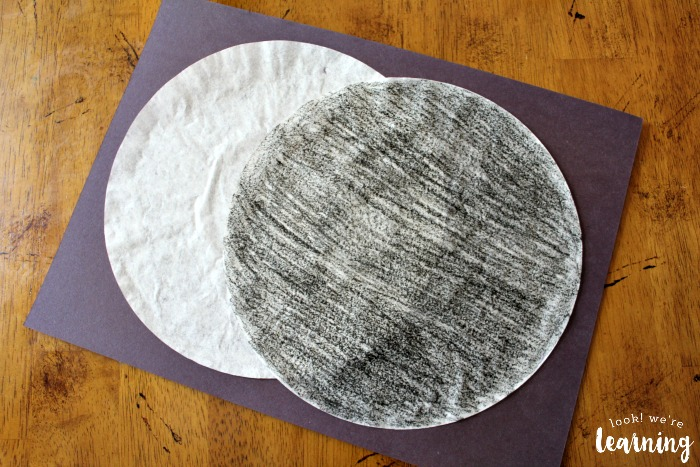 Coffee Filter Solar Eclipse Craft for Kids
