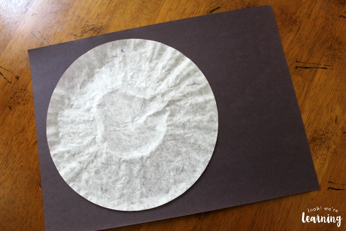 Coffee Filter Solar Eclipse Craft
