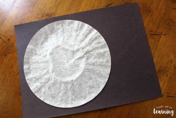 Coffee Filter Solar Eclipse Craft