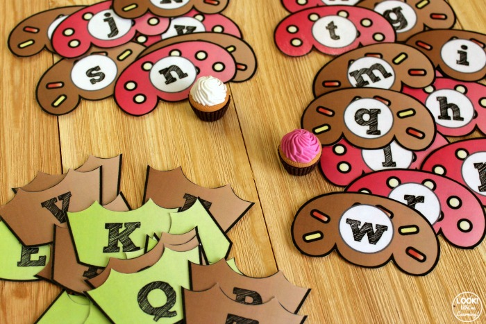 Cupcake Letter Matching Activity for Kids