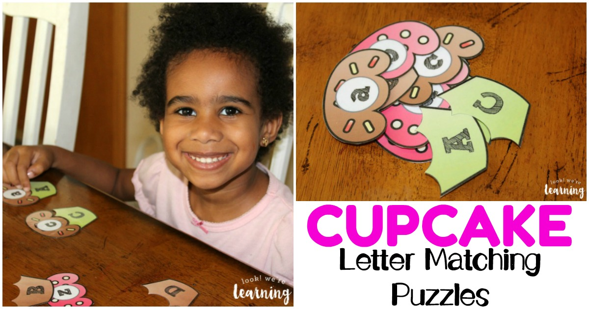 Cupcake Letter Matching Puzzles for Letter Recognition