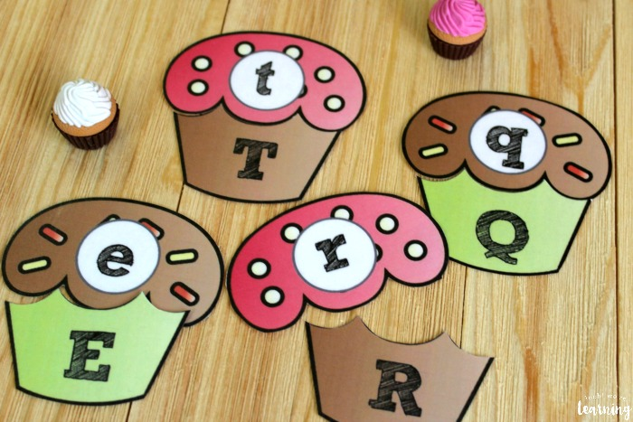 Cupcake Uppercase and Lowercase Letter Matching