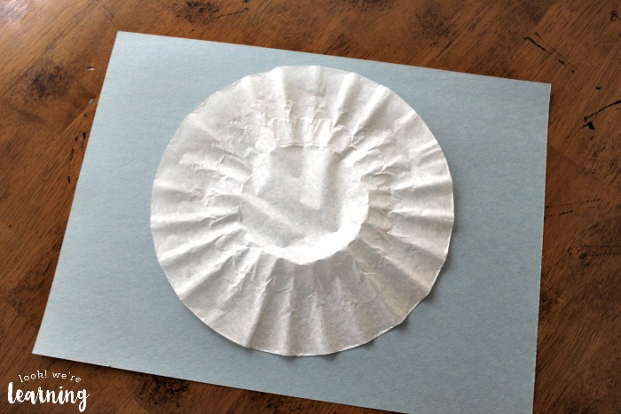 Easy Coffee Filter Cupcake Craft