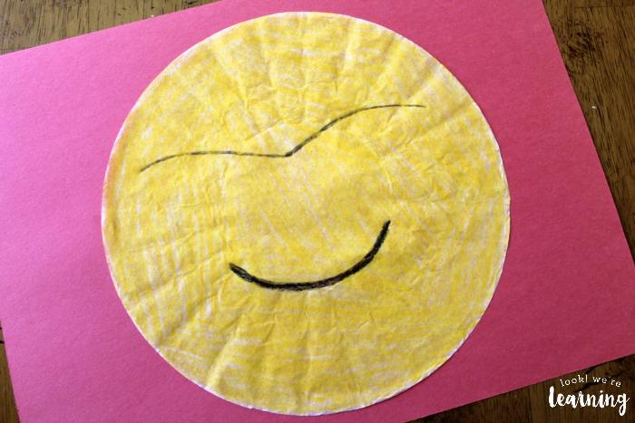 Easy Coffee Filter Emoji Craft