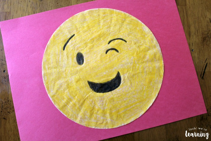 Emoji Coffee Filter Craft