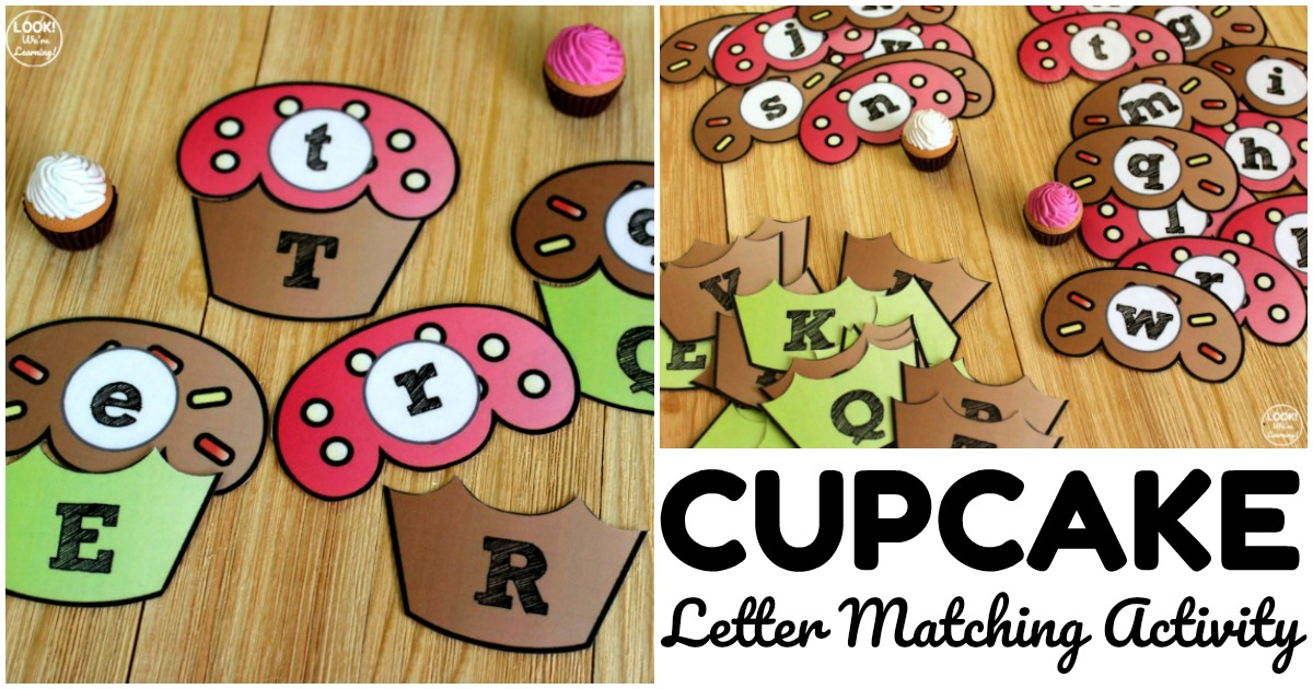 Fun Hands-On Cupcake Letter Matching Activity