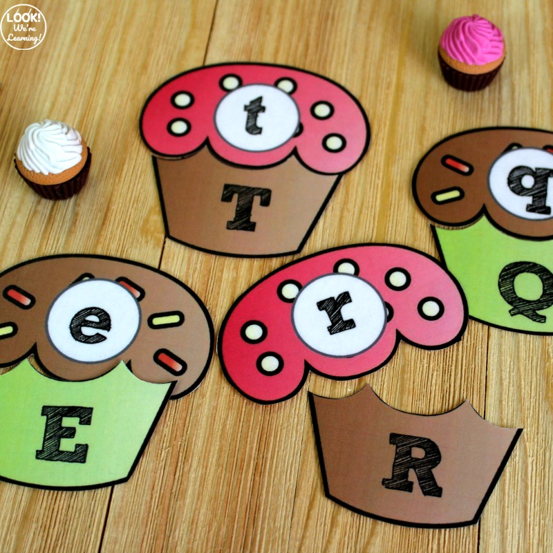 Hands On Cupcake Letter Matching Activity