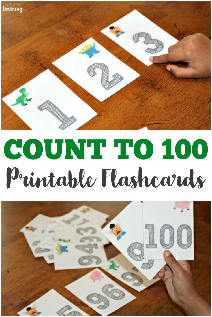 Help preschoolers learn to count from 1 to 100 with these fun toy-themed counting to 100 flashcards!