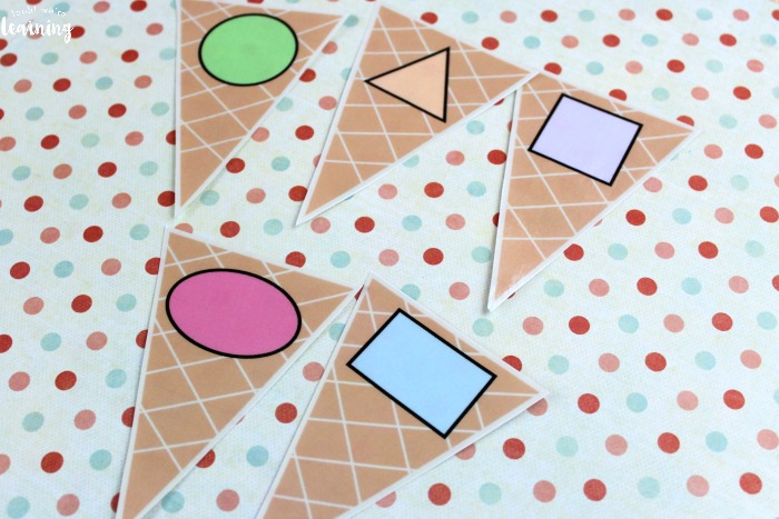 Ice Cream Shape Sorting Activity