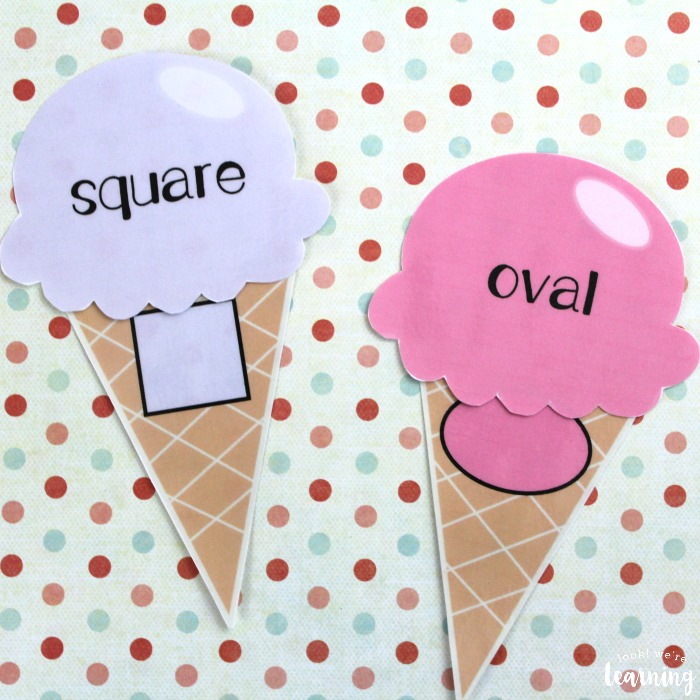 Ice Cream Shape Sorting for Kids