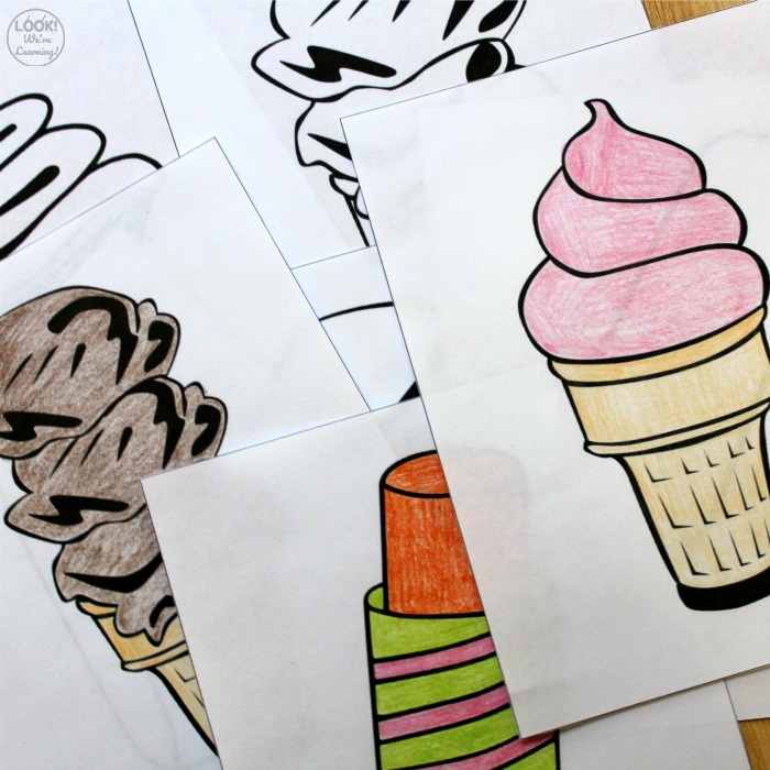 Ice Cream Themed Coloring Pages for Kids