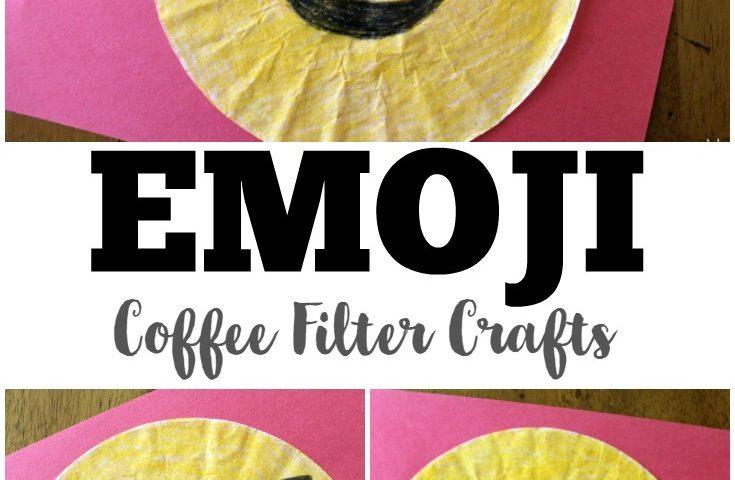 Coffee Filter Crafts for Kids: Coffee Filter Emoji Crafts