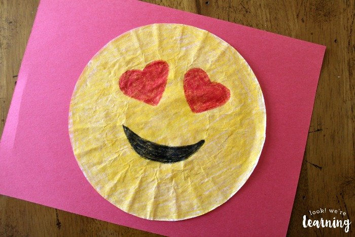 Love Emoji Craft for Kids