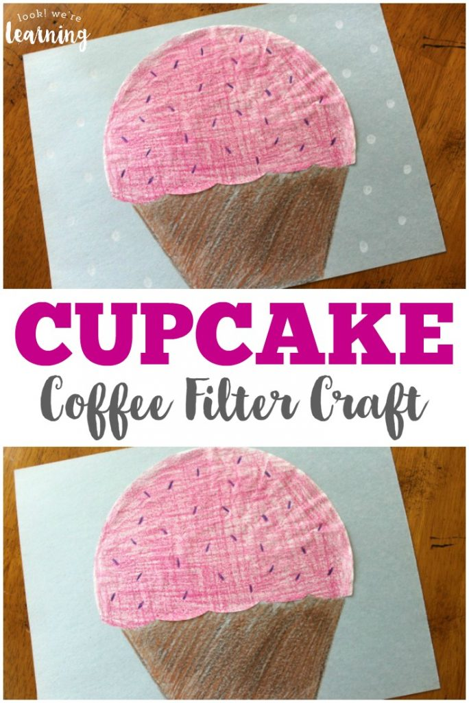 Make this super sweet coffee filter cupcake craft with your little ones!