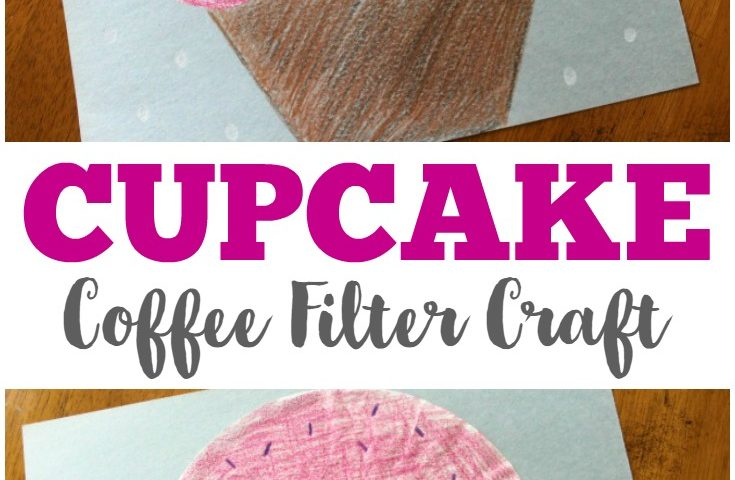 Coffee Filter Crafts for Kids: Coffee Filter Cupcake Craft